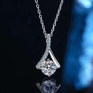 Pt950 platinum 1ct moissanite diamond Necklace